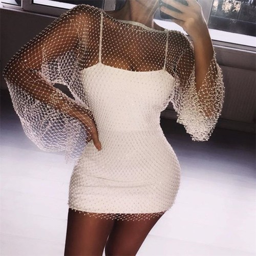 Diamonds See-through Mini Dress