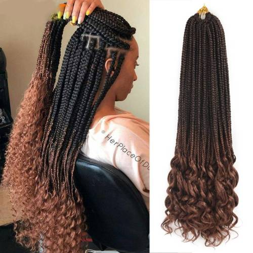 Curly Ends Crochet Box Braids