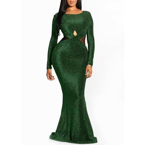 Elegant Backless Sheer Dress