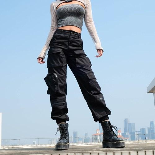 Casual Streetwear Camo Pants