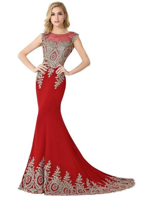 Long Fashionable Sheer Dresses