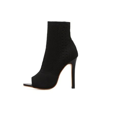 Open Toe Short Dress Boots