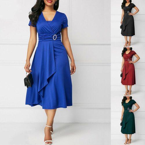 Elegant Women High Waist Dress