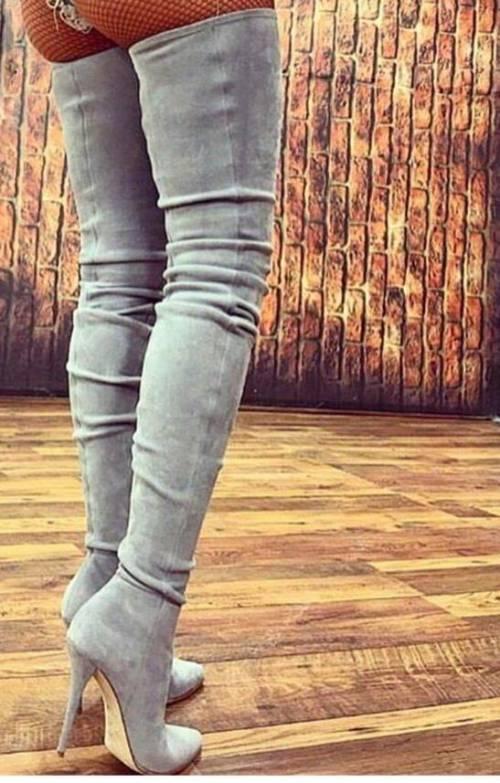 Faux Suede Dress Boots