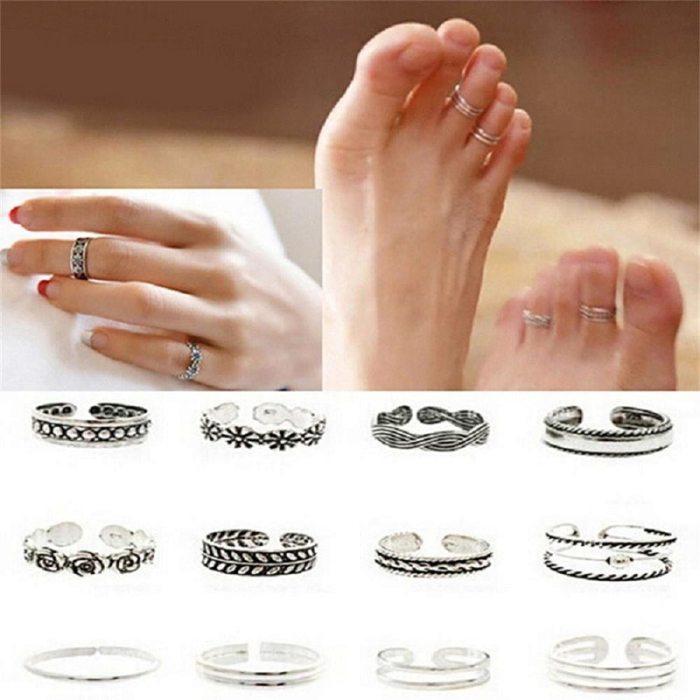 Retro Carved Women Toe Rings