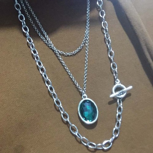 Sweater Chain Mood Necklace
