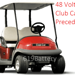Battery Wiring Diagram For 48 Volt Golf Cart Solar Club Car Precedent Replacement Deep Cycle Store