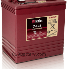 Western Golf Cart 42 Volt Wiring Diagram Mgb Battery Replacement Guide Call Today 619 448 5323 Price For Trojan T 105 6 125 Ea With Exchange Unit Batteries Sale