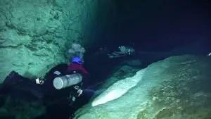 Buceo en cueva en Cenote Ponde Rosa (Jardin del Eden)