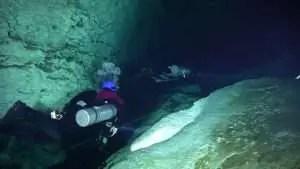 Cave diving in Cenote Ponde Rosa (Jardin del Eden)