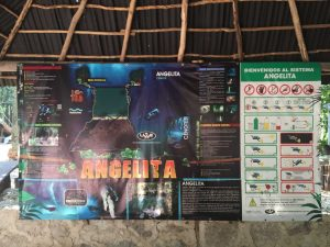 Dive map and safety rules - Cenote Angelita
