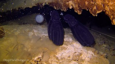 Plongée souterraine en configuration Sidemount, cenote Minotauro