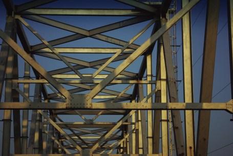 Shadows from the Chesapeake Bay Bridge