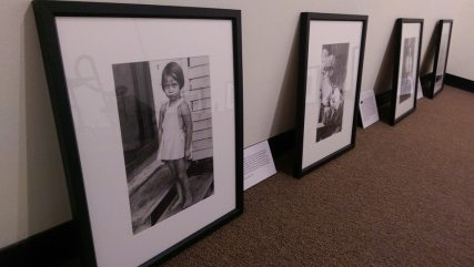 Setup for Out of the Darkroom, Shiloh Museum Photo Exhibit - courtesy Shiloh Museum