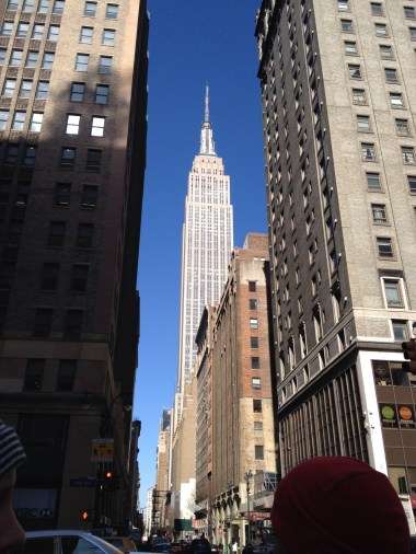 Looking up at the Empire State Building