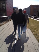 Walking the High Line through Manhattan