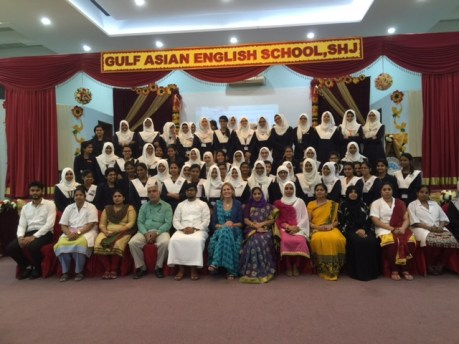 Gulf Asian English School, Sharjah welcome Jenny Balfour Paul
