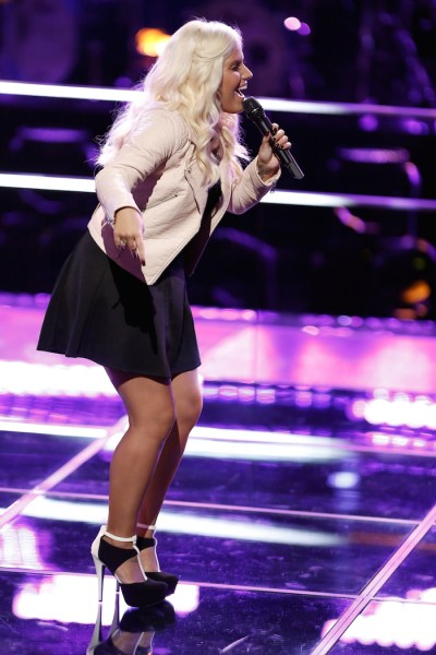 """THE VOICE --  """"Battle Rounds"""" Episode 709 -- Pictured: Allison Bray -- (Photo by: Tyler Golden/NBC)"""