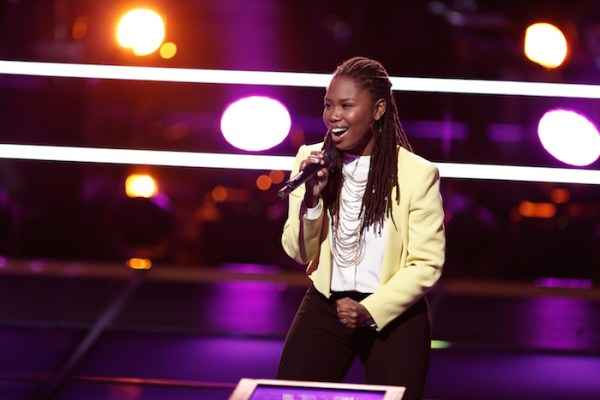 "THE VOICE --  ""Battle Rounds"" Episode 709 -- Pictured: Anita Antoinette -- (Photo by: Tyler Golden/NBC)"