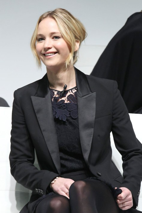 - New York, NY - 11/15/14-New York Press Conference For The Hunger Games : Mockingjay Part 1 .The Film will open November 21.  PICTURED: Jennifer Lawrence  PHOTO by: Dave Allocca/Starpix
