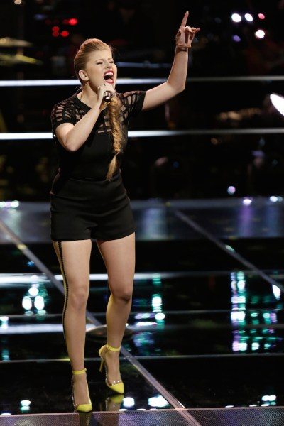"""THE VOICE -- """"Knockout Rounds"""" Episode 710 -- Pictured:  Jessie Pitts -- (Photo by: Tyler Golden/NBC)"""