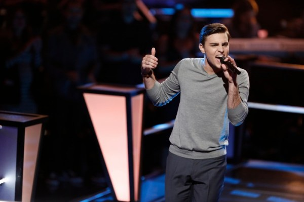 """THE VOICE --  """"Battle Rounds"""" Episode 709 -- Pictured: Ricky Manning -- (Photo by: Tyler Golden/NBC)"""