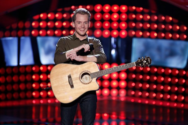 """THE VOICE -- """"Blind Auditions"""" Episode 702 -- Pictured: Taylor Phelan  -- (Photo by: Tyler Golden/NBC)"""