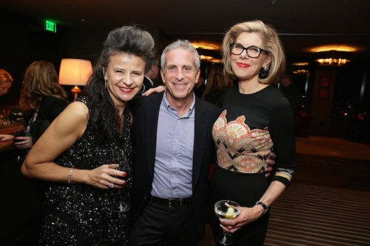 """EXCLUSIVE -Tracey Ullman, Producer Marc Platt, Christine Baranski joined Alan Horn, Chairman of Walt Disney Studios, hosted a holiday gathering celebrating """"Into the Woods"""" on Wednesday, December 17 in Los Angeles, CA. The humorous and heartfelt musical, that has been nominated for 3 golden globe awards including Best Picture opens in theaters nationwide on December 25, 2014. (Photo by Eric Charbonneau/Invision for Walt Disney/AP Images)"""