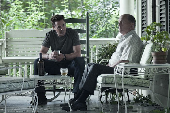 Robert Downey Jr. & Robert Duvall in The Judge - (Credit: Claire Folger)