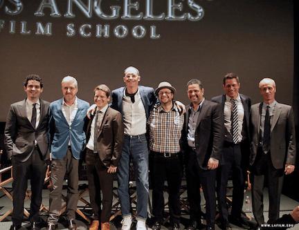 Pictured (L-R)  Damien Chazelle, Anthony McCarten, Graham Moore, E. Max Frye, Jeff Goldsmith,  Alex Dinelaris Jr., Jason Hall, Dan Gilroy.