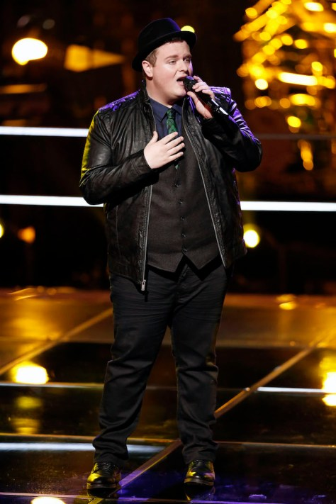 """THE VOICE -- """"Battle Rounds"""" -- Brian Johnson -- (Photo by: Tyler Golden/NBC)"""