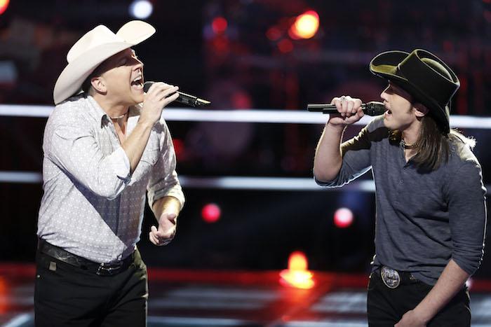 "THE VOICE -- ""Battle Rounds"" E -- Pictured: (l-r) Matt Snook, Cody Wickline -- (Photo by: Tyler Golden/NBC)"