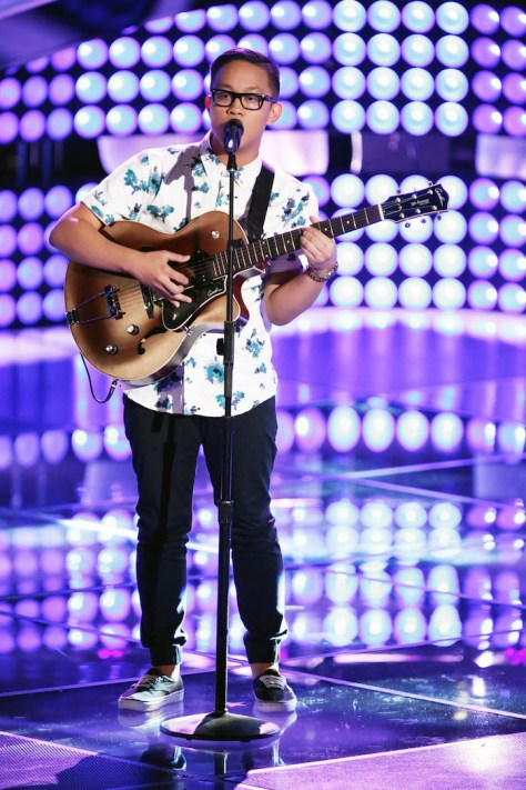 """THE VOICE -- """"Blind Auditions"""" -- Pictured: Nathan Hermida -- (Photo by: Tyler Golden/NBC)"""