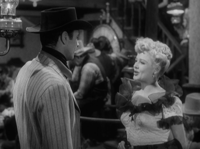 "Barry Sullivan & Marjorie Reynolds in ""Bad Men of Tombstone."" (Warner Archive)"