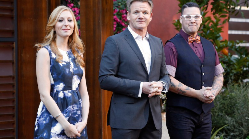 MASTERCHEF: L-R: Christina Tosi, Gordon Ramsay and Graham Elliott in the special two-hour Season Premiere of MASTERCHEF airing Wednesday, May 20 (8:00-10:00 PM ET/PT) on FOX. CR: FOX. © 2015 FOX Broadcasting.