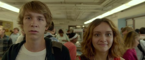 "Thomas Mann as ""Greg"" and Olivia Cooke as ""Rachel"" in ME AND EARL AND THE DYING GIRL. Photo coutesy of Fox Searchlight Pictures. © 2015 Twentieth Century Fox Film Corporation All Rights Reserved"