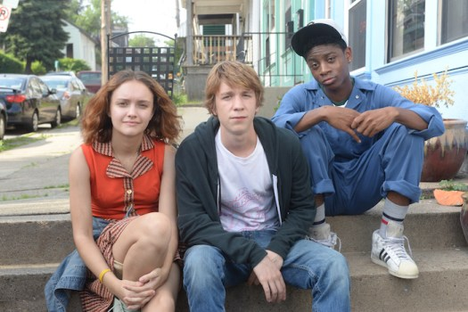 """Olivia Cooke, Thomas Mann, and RJ Cyler in """"Me and Earl and the Dying Girl"""""""