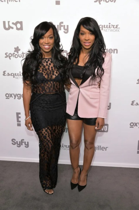 "NBCUNIVERSAL CABLE ENTERTAINMENT UPFRONT -- ""2015 NBCUniversal Cable Entertainment Upfront at the Javits Center in New York City on Thursday, May 14, 2015"" -- Pictured: Khadijah Haqq, Malika Haqq""Dash Dolls"" on E! Entertainment -- (Photo by: Theo Wargo/NBCUniversal Cable Entertainment)"
