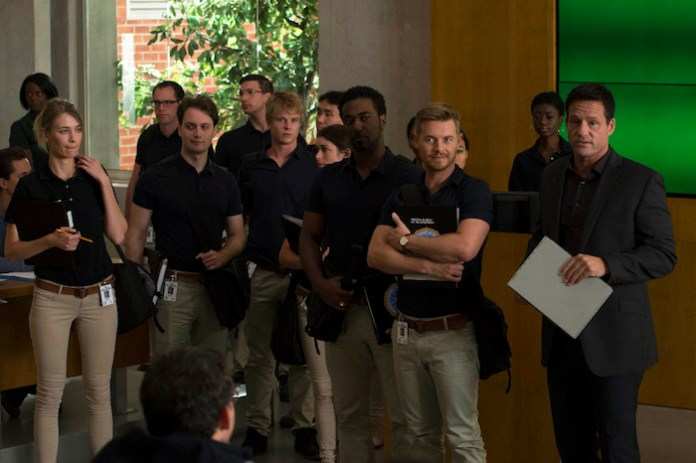 QUANTICO - (ABC/Phillippe Bosse) GRAHAM ROGERS, RICK COSNETT, JOSH HOPKINS