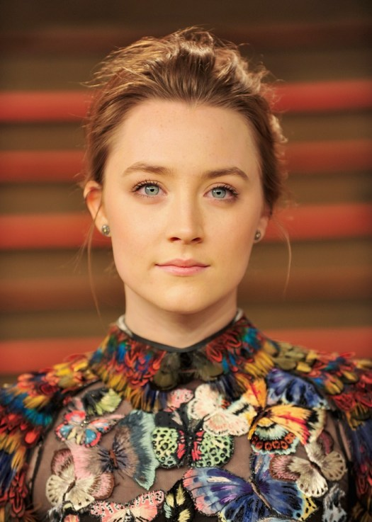 WEST HOLLYWOOD, CA - MARCH 02: Actress Saoirse Ronan arrives for the 2014 Vanity Fair Oscar Party hosted by Graydon Carter on March 2, 2014 in West Hollywood, California. (Photo by Mark Sullivan/WireImage)