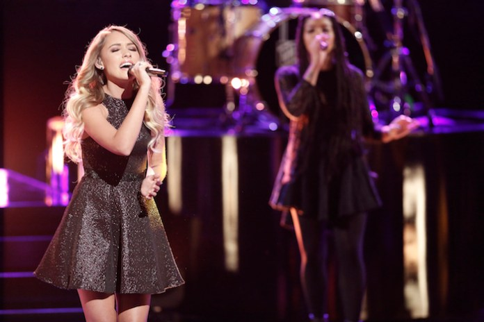 """THE VOICE -- """"Live Top 12"""" Pictured: Emily Ann Roberts -- (Photo by: Tyler Golden/NBC)"""