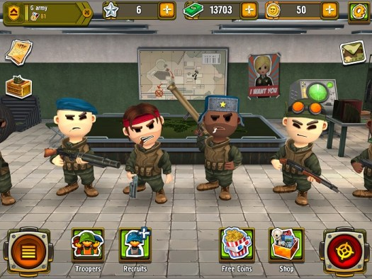 "My motley crew of soldiers in ""Pocket Troops."""