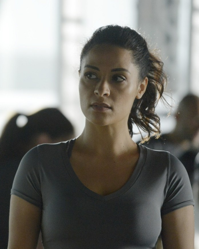 """QUANTICO - """"Quantico"""" - At Quantico, an emergency disciplinary hearing causes deep secrets to be spilled, while in the future Alex works covertly with her team to find the real bomber before her time runs out. """"Quantico"""" airs SUNDAY, DECEMBER 6 (10:00 p.m. - 11:00 p.m., ET) on the ABC Television Network. (ABC/Phillippe Bosse) YASMINE AL MASSRI"""