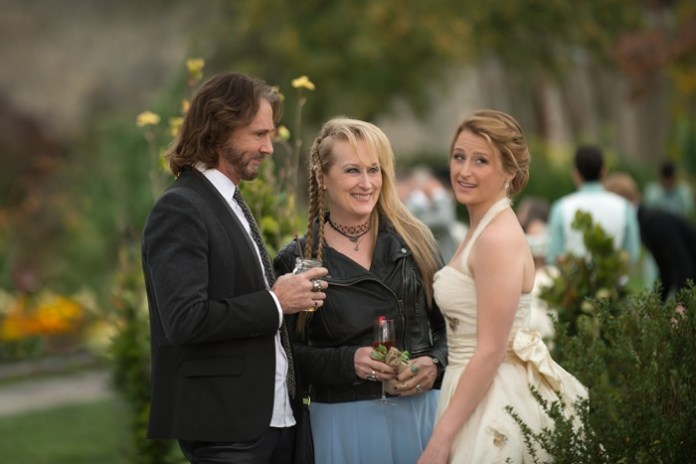 Greg (Rick Springfield), Ricki (Meryl Streep) and Julie (Mamie Gummer) in TriStar Pictures' RICKI AND THE FLASH.
