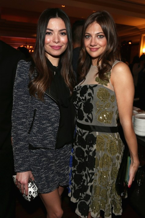 """NBCUniversal Party -- Pictured: (l-r) Miranda Cosgrove, Mia Serafino, """"Crowded"""" -- (Photo by: Christopher Polk/NBCUniversal)"""