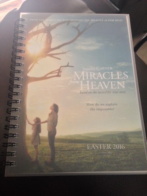 """Miracles from Heaven"" notebook."