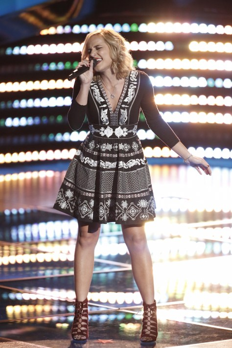 "THE VOICE -- ""Blind Auditions"" -- Pictured: Mary Sarah -- (Photo by: Tyler Golden/NBC)"