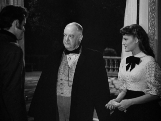 """Gig Young, Sydney Greenstreet, and Alexis Smith in """"The Woman in White"""" (Warner Archive Collection)"""