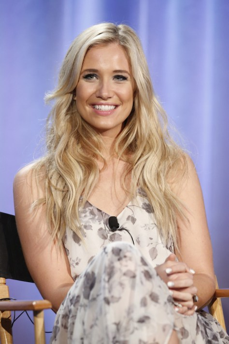 "NBCUniversal Summer Press Day, April 1, 2016 -- NBC's ""American Ninja Warrior"" Panel -- Pictured: Kristine Leahy, Co-Host -- (Photo by: Trae Patton/NBCUniversal)"