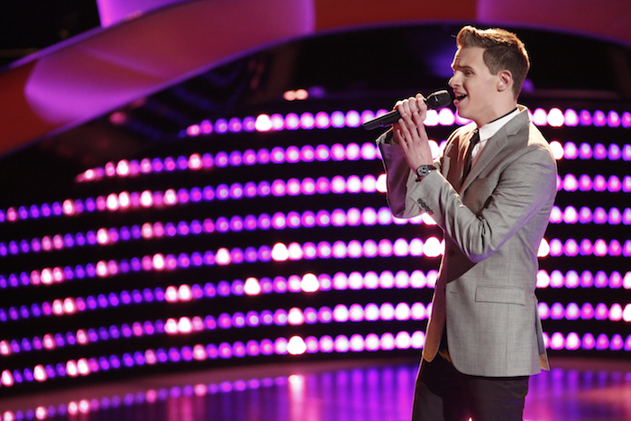 "THE VOICE -- ""Blind Auditions"" -- Pictured: Riley Elmore -- (Photo by: Tyler Golden/NBC)"